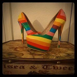 6 inch Rainbow Heels